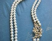 Swarovski Cream Pearl Statement Brooch Necklace