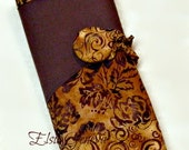 Amber and Phlox Batik Spill Proof Knitpicks Interchangeable  & DPN Combined Knitting Needle Organizer OR Choose Any Fabric