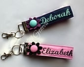 """Design Your Own 10"""" Diameter, Any Color, Any Fabric Personalized with Name and Scripture Key Chain or Name Tag"""