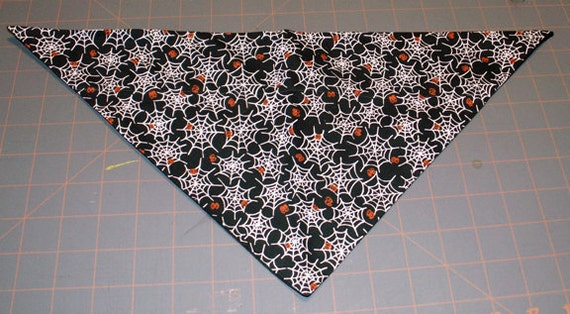 Halloween Dog Bandana - Spider Webs, spooky eyes, fall, autumn, dog costume