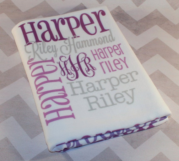 Personalized Baby Blanket Monogrammed Baby By