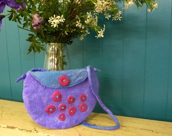 Purple Shoulder Bag- Unique Boho Handbag- ON SALE