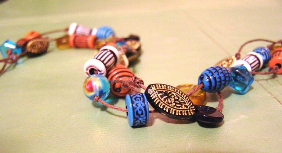 Bead Choker Rustic Mediterranean Style