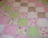 Pink Farm Friends Raggedy Baby Quilt