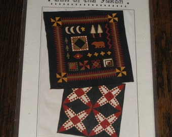 2 Quilt Patterns Red Acorn Burr RARE Block Adirondack Fall Cabin Lodge Look Call of the Yukon Quilt