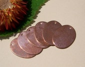 Copper Ovals Blanks 21mm x 16mm 24g Oval Shape for Enameling Stamping Texturing Blanks