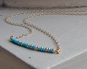 Tiny Personalized Morse Code Necklace-Pick Any Name and Bead Colors