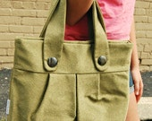 Upcycled Army Green Medium Tapestry Handbag