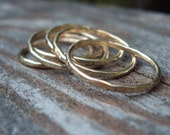 6 rings- Etsy jewelry, 14kt gold filled,  stacking rings,  18g, 1mm thick each ring, any size,