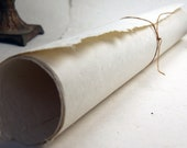 Natural Seed Paper 20x30 handmade sheet - Light weight wrapping paper - invitation paper