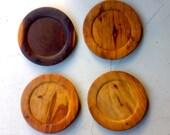 12 Vintage Wooden Plates
