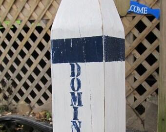 OOAK Reclaimed Wooden Buoy. Custom Buoy. Monogram Buoy. Made to Order. Nautical Photo Prop. Wedding Decor