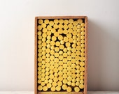 Vintage Wooden Chalk Box Full of Yellow Chalk - Back to School Atlantic Sight Saver - Binny & Smith - One Gross