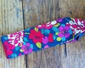 Harriet Headband - Liberty of London Red and Green Floral Design