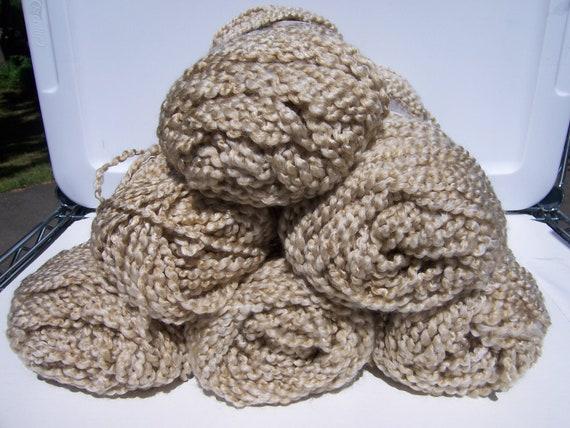 6 Skeins Lion Brand Homespun Yarn Color 311 Rococo Beige