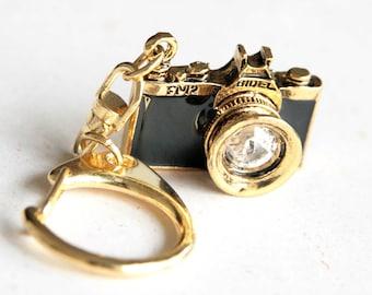 Golden Black Camera Keychain / keyring (F025)