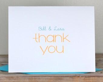 Wedding, Wedding Thank You Cards, Thank You Cards, Bridal Shower, Affordable Wedding, Budget Wedding, Personalized