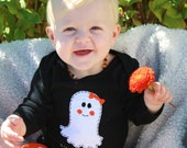 "Halloween Baby ""Lil GHOUL"" bodysuit for baby girls, perfect for 1st Halloween photo prop, 1st Halloween onesie"