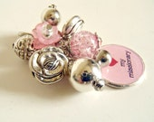 I Love My Missionary Pink and Silver Interchangeable Cluster Charm or Keychain