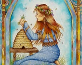 The Healer - A Fine Art Greeting Card From The Chrysalis Tarot Troupe of Medieval Characters