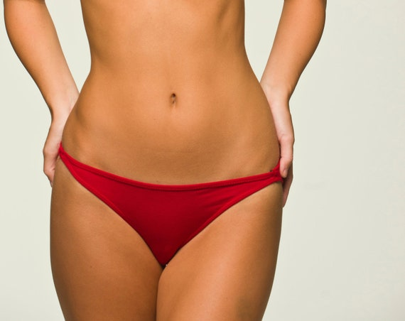 Red Lingerie Panties - Basic Bikini- Discontinued Color- 30%off- RTS