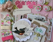 Shabby Chic Pink Paislee London Market Card and Tag Book Kit