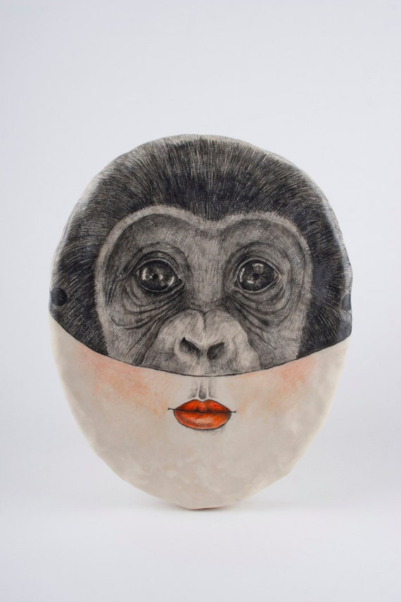 Portrait of a Woman Wearing a Mask / Monkey - Vila the Shifter
