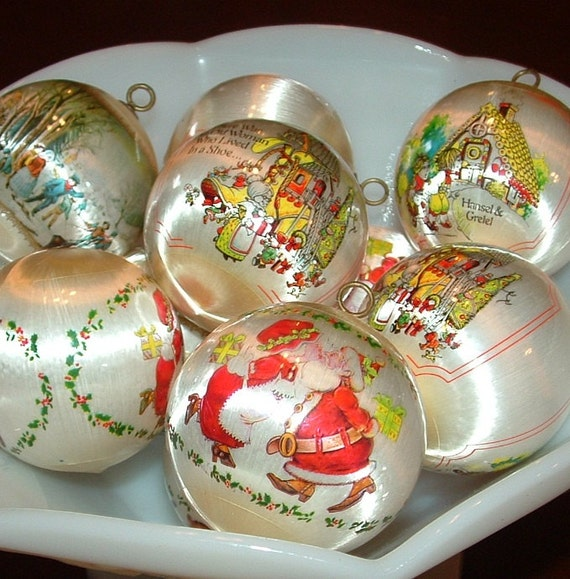 10 White Satin with Plastic Wrap Christmas Scenes Mr. and Mrs Clause and more