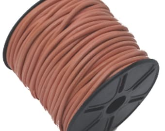 3 mm Leather Cord Pink 25 M spool