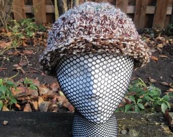 Hand knit pixie cap