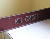 Vintage Sign Office Metal