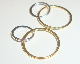 18K Gold over Sterling Silver Handcrafted 2 circles Link, Fine Infinity Link, Infinity Connector,13x20mm,Sale, 8% off 25 pcs