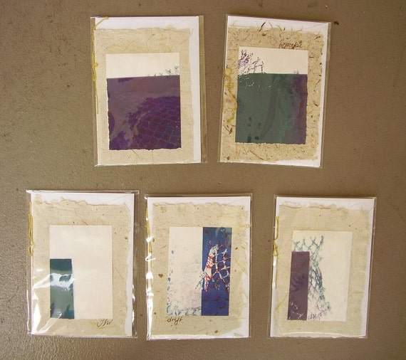 Set of 5 Handmade Cards Nets
