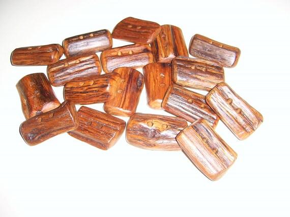 """18 Handmade  oak wood buttons, accessories (1,57"""" diameter x 1,06"""" thick)"""