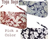Yoga Bag Premium Series Custom Made for You in your choice of colors and prints