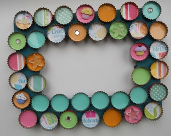 Birthday Bottle Cap Picture Frame  personalized free