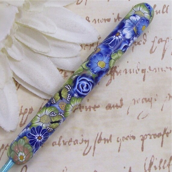 Susan Bates Polymer Clay Covered Crochet Hook, Size D 3/ 3.25mm