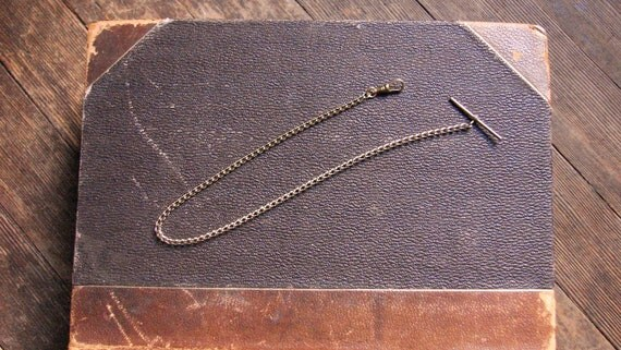 Mens Steampunk Pocket Watch Chain in Gold Plate and Gold Fill