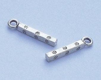 Fine Silver Pendants Charms Karen Hill Tribe 2 pcs. HT-160