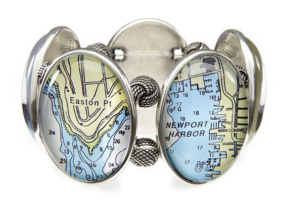 Newport Rhode Island Five-Cameo Stretch Bracelet