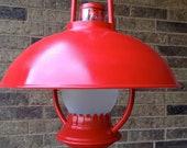 Red Retro Lantern Pendant Light