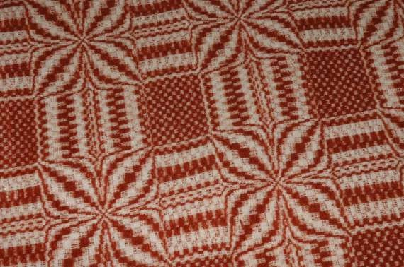 Coverlet 19th Century Old Vintage Antique Fall Russet 16