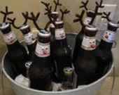 Reindeer Beer Kit - FREE SHIPPING!  Turn a 6-Pack of your Favorite Bottled Beverage into a Cute Christmas Gift