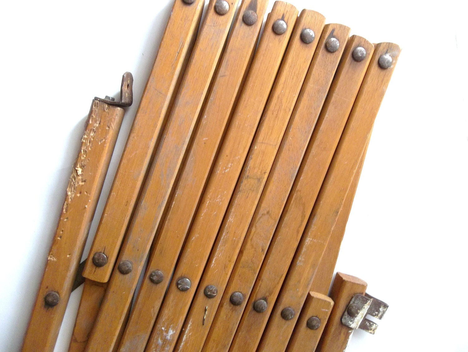 Reserved For Lucy Vintage Wood Folding Accordian Gate Safety