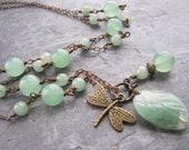 Adventurine and Brass Necklace