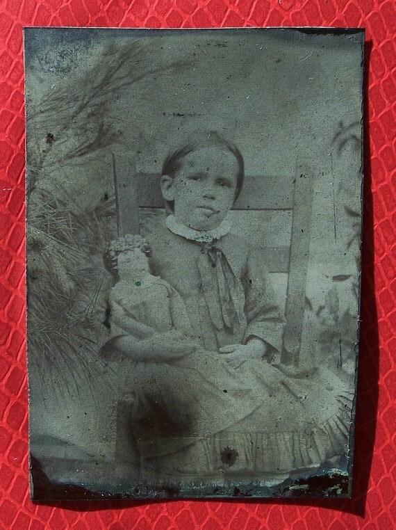 Tintype Girl's Precious Doll