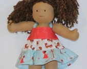Lil' Red Twirl Halter Dress Fits Most 15-16 Inch Waldorf Dolls