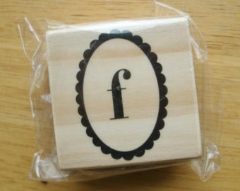 Lower Case F Rubber Stamp