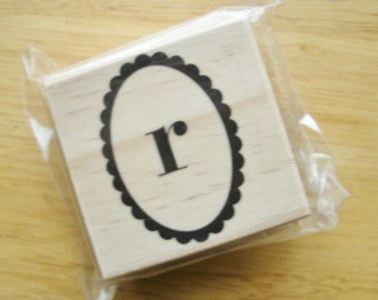 Lower Case R Rubber Stamp
