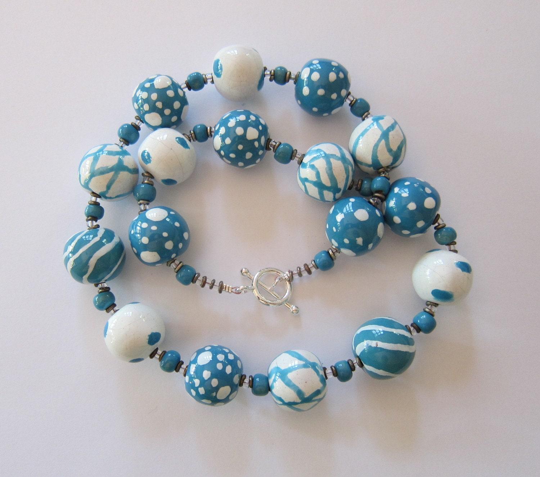Ceramic Bead Beads: Kazuri Bead Necklace Ceramic Jewelry Fair By Lizbriggsdesigns